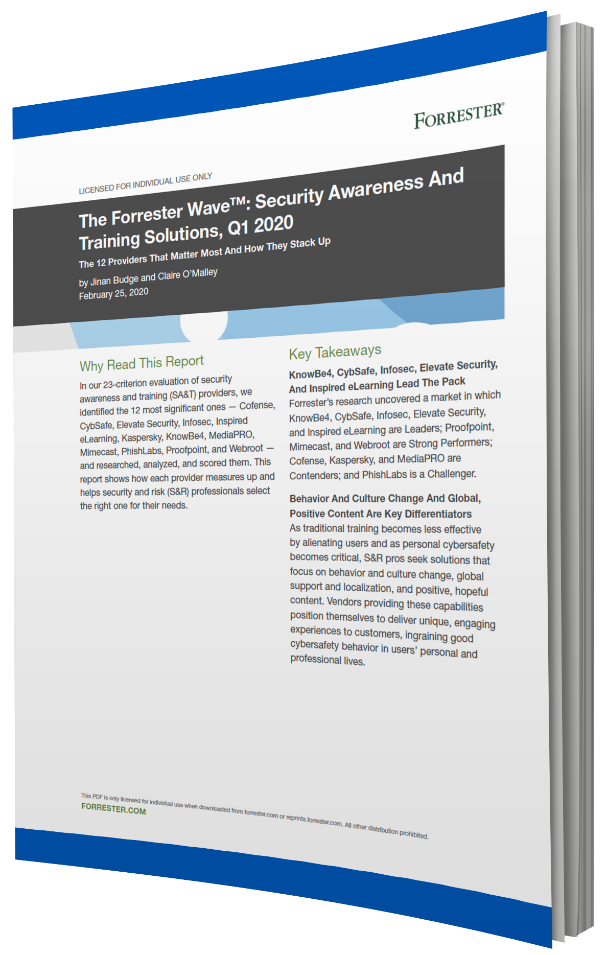 Forrester Wave Report Front Page