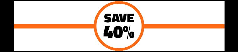 Save 40% Promo Image
