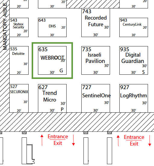 Webroot Booth Location on Map